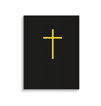 bible on white background Eps 10 vector image vector image