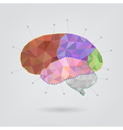 Brain concept creative triangle style v1 vector image vector image