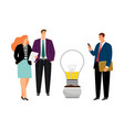 business people planting idea vector image