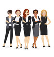 business woman team set vector image vector image