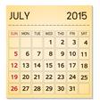 calendar 20115 07 July vector image vector image