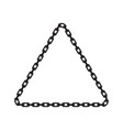 chain frame vector image vector image