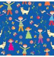 children's wallpaper pattern vector image vector image