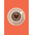 Coffee cup icon with heart in vector image