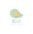 creative yoga floral paisley logo abstract vector image vector image