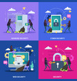 cyber security flat design concept vector image vector image