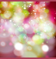 defocused christmas lights vector image vector image