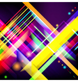 Digitally generated image of colorful light and vector image vector image