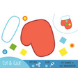 education paper game for children mitten vector image vector image