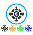 euro social network rounded icon vector image vector image