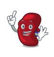 finger spleen mascot cartoon style vector image vector image
