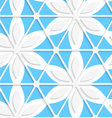 Floral with net and blue seamless vector image vector image