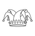 fools hat isolated icon vector image