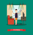 football concept in flat style vector image vector image