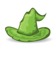 green tall witch hat vector image