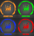 Growing bar chart icon Fashionable modern style In vector image
