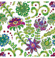 hand drawn flower seamless pattern colorful vector image vector image