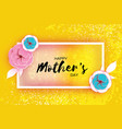 happy mother s day greeting card pink blue paper vector image vector image