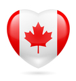 Heart icon of Canada vector image