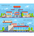 Hospital Flat Banners vector image vector image