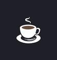 Hot coffe computer symbol vector image vector image