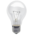 Incandescent-Light-Bulb-Clear vector image vector image