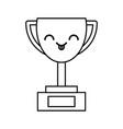 kawaii trophy cartoon vector image