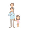 light color caricature faceless dad with boy on vector image vector image