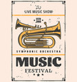 live music show and festival trumpet vector image vector image