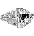 lives word cloud concept vector image vector image