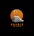 logo anubis head gradient colorful style vector image