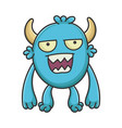 mad angry cartoon furry creature monster vector image vector image