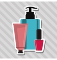Make up design cosmetic icon skin care concept vector image vector image