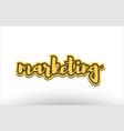 marketing yellow black hand written text postcard vector image vector image