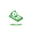 mobile cash logo vector image vector image