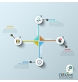 Modern business circle origami style options vector image vector image