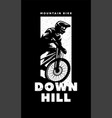mountain bike downhill banner t-shirt print vector image vector image