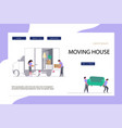 moving home and office concept for website vector image