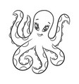 octopus coloring book vector image