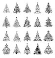 ornate christmas trees vector image