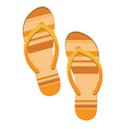 pair of orange flip flops beach slippers sandals vector image