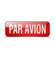 par avion red square 3d realistic isolated web vector image vector image