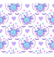 pattern with head of unicorn vector image