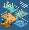 physiotherapy rehabilitation clinic isometric vector image vector image