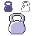 pixel icon weight in three variants fully vector image vector image