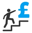Pound Business Stairs Flat Icon Symbol vector image