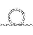 realistic metal chain texture silver color chains vector image