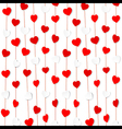 red and white heart shape pattern background vector image vector image