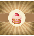 Retro Label With Cupcake vector image vector image