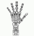 robotic arm drawing model it can be used as an vector image